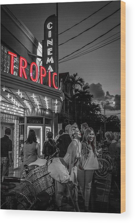 Florida Wood Print featuring the photograph 5828- Tropic Theater by David Lange