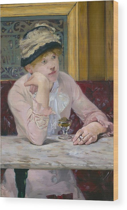 Bar Wood Print featuring the painting Plum Brandy by Edouard Manet