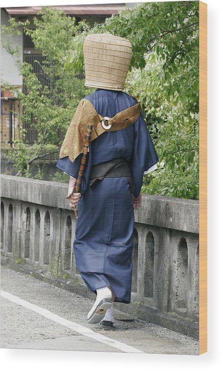 Komuso Wood Print featuring the photograph Komuso by Masami Iida