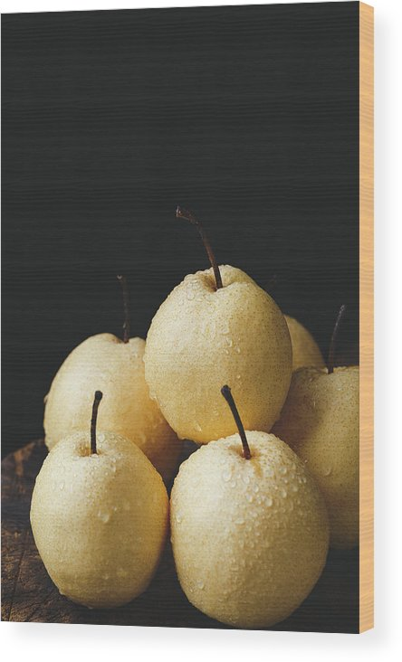 Food Wood Print featuring the photograph Asian Pears by Thanh Thu Thai