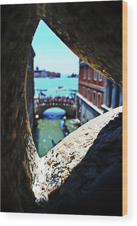 A Wood Print featuring the photograph A Piece Of Venice by Tinto Designs