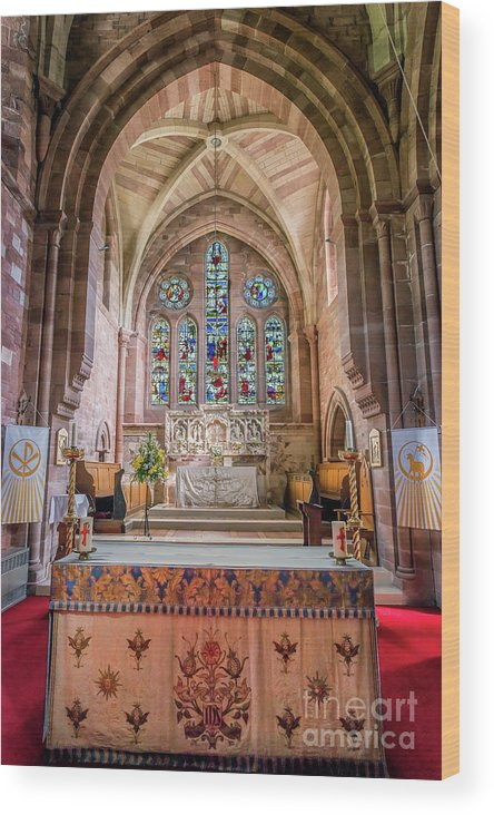 Catholic Wood Print featuring the photograph A Sacred Place by Adrian Evans