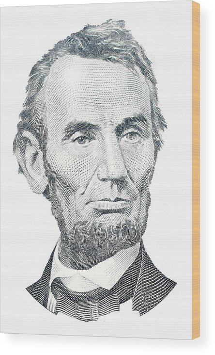Abraham Lincoln Wood Print featuring the photograph Abraham Lincoln by David Houston