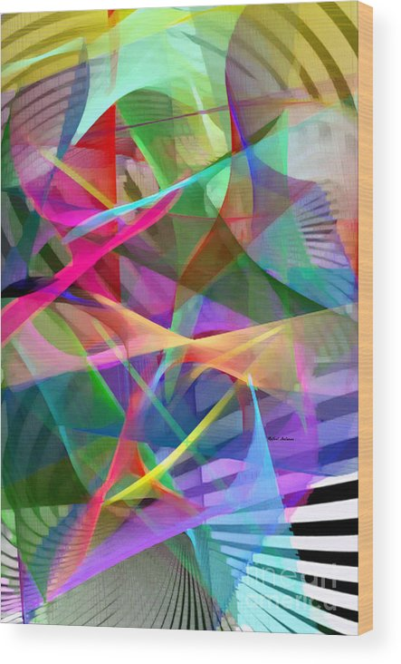 Rafael Salazar Wood Print featuring the digital art Abstract 9488 by Rafael Salazar