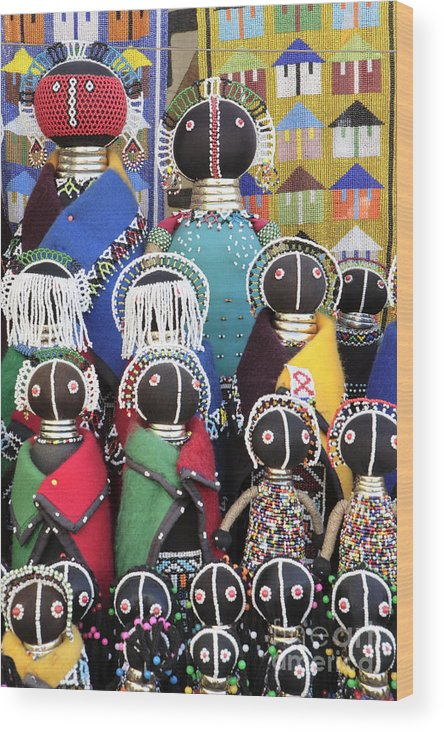 Xhosa Dolls Wood Print featuring the photograph African Dolls by Neil Overy