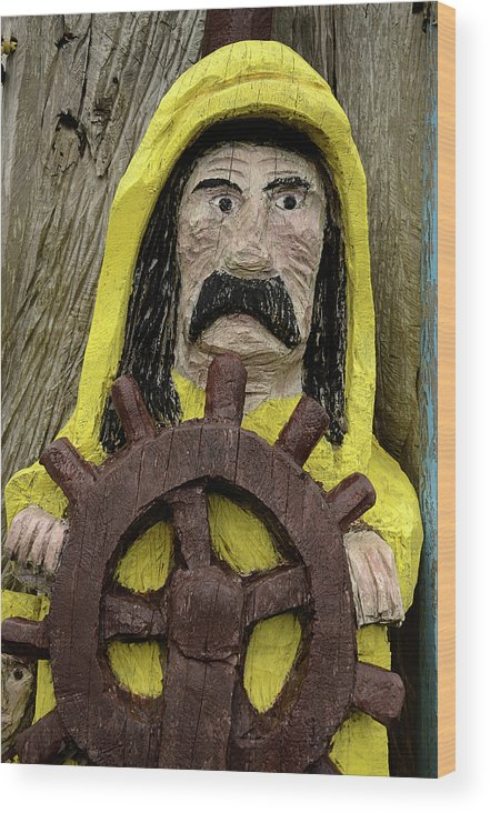 Fun Wood Print featuring the photograph Ahoy Mate by Bob Christopher