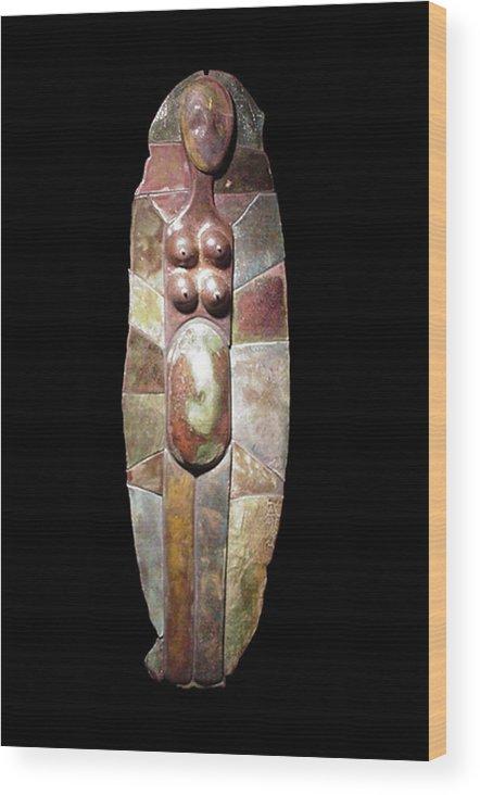 Giclee Print Wood Print featuring the digital art Aktunowihio Print by Bates Clark