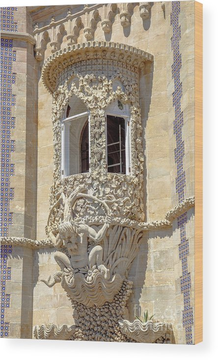 Sintra Wood Print featuring the photograph Architecture Background Sintra by Benny Marty