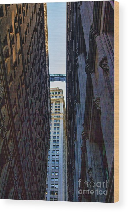 New York Wood Print featuring the photograph Architecture New York City The Crossing by Chuck Kuhn