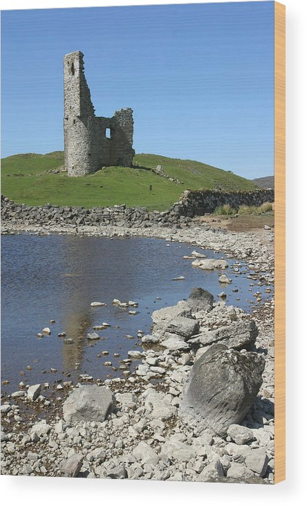 Ardvreck Wood Print featuring the photograph Ardvreck Castle Scotland by Mike Bambridge