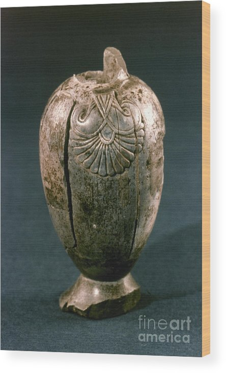 8th Century B.c. Wood Print featuring the photograph Assyrian Jug by Granger