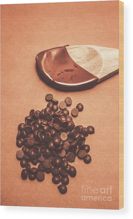 Bake Wood Print featuring the photograph Baking Desserts With Chocolate by Jorgo Photography - Wall Art Gallery