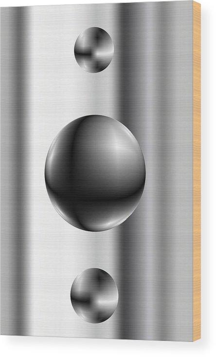 Abstsract Wood Print featuring the digital art Ball by James Eugene Albert