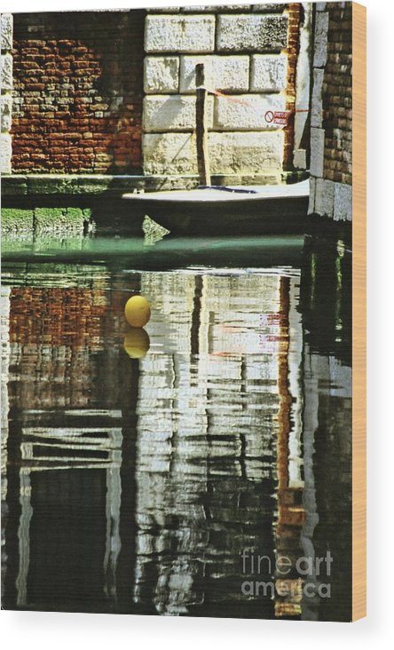 Venice Wood Print featuring the photograph Ball On A Canal In Venice by Michael Henderson