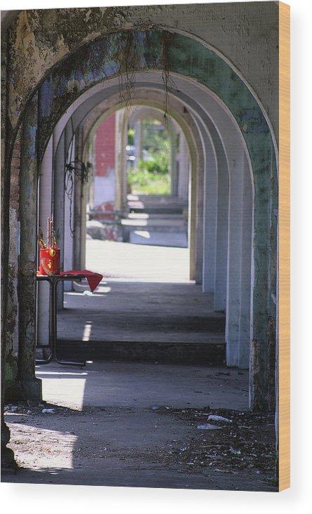 Corridor Wood Print featuring the photograph Barren by Mark Mah
