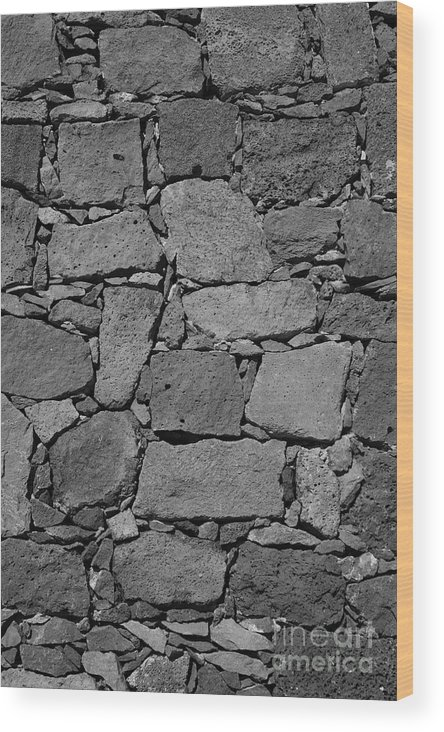 Wall Wood Print featuring the photograph Basalt Wall by Gaspar Avila
