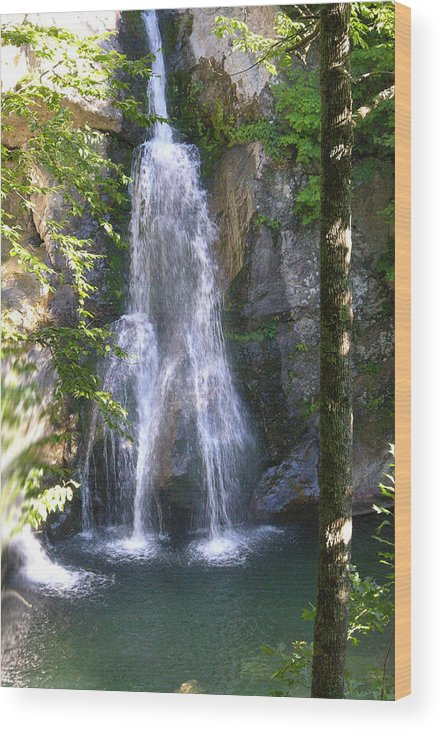 Waterfall Wood Print featuring the photograph Bash Bish by Peter Williams