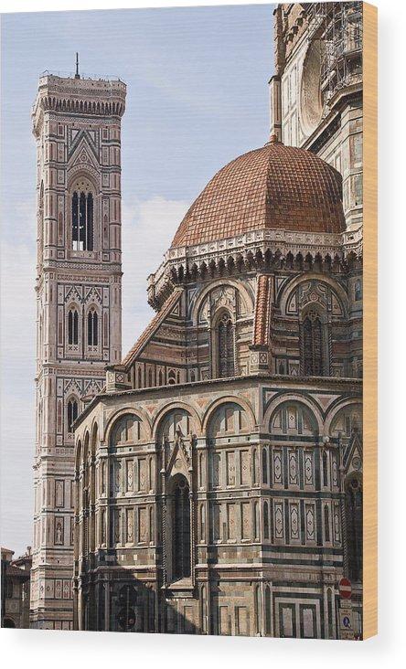 Cityscape Wood Print featuring the photograph Basilica Di Santa Maria Del Fiore by Carl Jackson