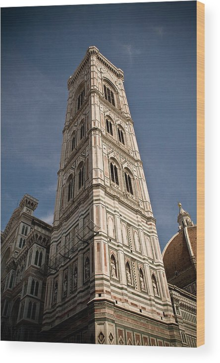 Italy Wood Print featuring the photograph Basilica Di Santa Maria Del Fiore Tower by Carl Jackson