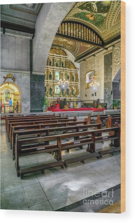 Catholic Wood Print featuring the photograph Basilica Minore Del Santo Nino by Adrian Evans