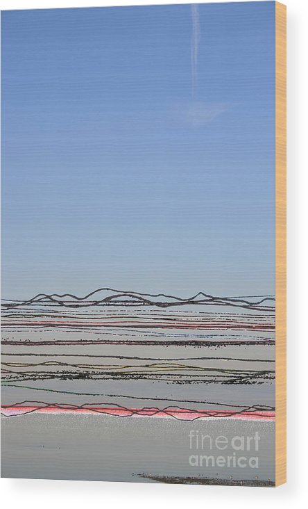 Bay Wood Print featuring the photograph Bay Lines by Andy Mercer