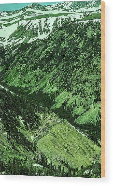 Highway Wood Print featuring the photograph Beartooth Highway by Sheri Bartoszek