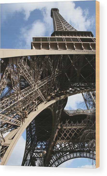 Eiffel Tower Wood Print featuring the photograph Beneath The Eiffel Tower by Keith O Rahilly