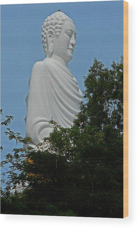 Phu My Wood Print featuring the photograph Big Buddha 5 by Ron Kandt