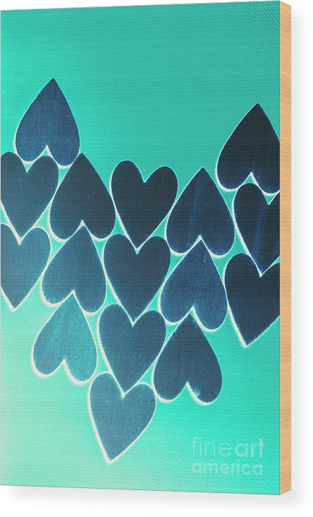 Blue Wood Print featuring the photograph Blue Heart Collective by Jorgo Photography - Wall Art Gallery