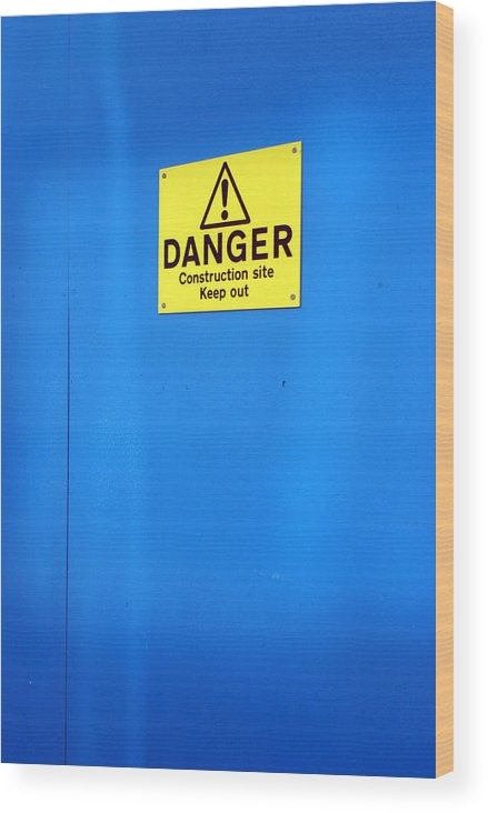 Jez C Self Wood Print featuring the photograph Blue Warning 2 by Jez C Self