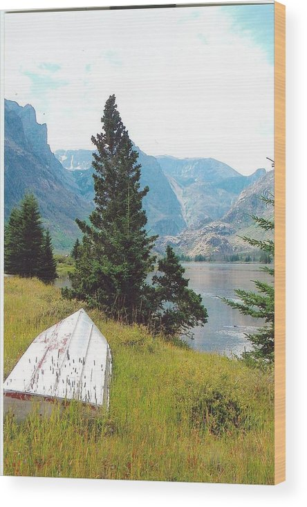 Boat Wood Print featuring the photograph Boat Ashore by Anthony Ritch