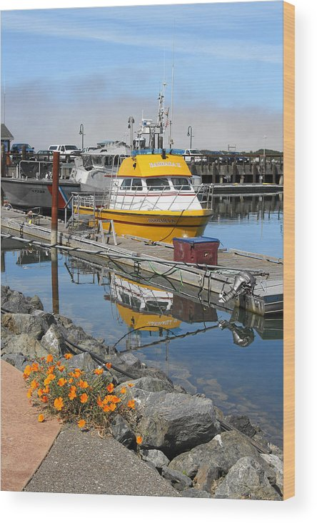Boat Harbor Wood Print featuring the photograph Boat Harbor At Bandon by Alice Eckmann