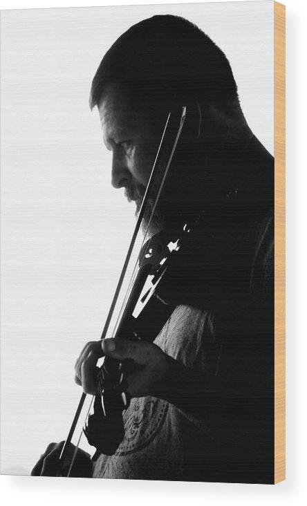 Fiddle Wood Print featuring the photograph Bowman by Jesse Ciazza