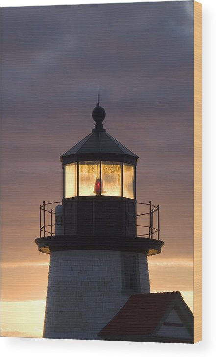 Krauzyk Wood Print featuring the photograph Brant Point Lanthorn - Nantucket by Henry Krauzyk