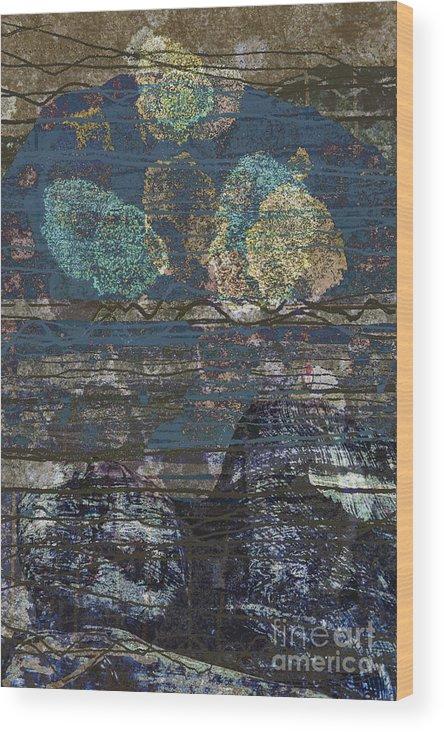 Buddha Wood Print featuring the digital art Buddha by Andy Mercer