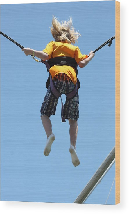 Bungee Jumping Wood Print featuring the photograph Bungee Fun II by Hans English