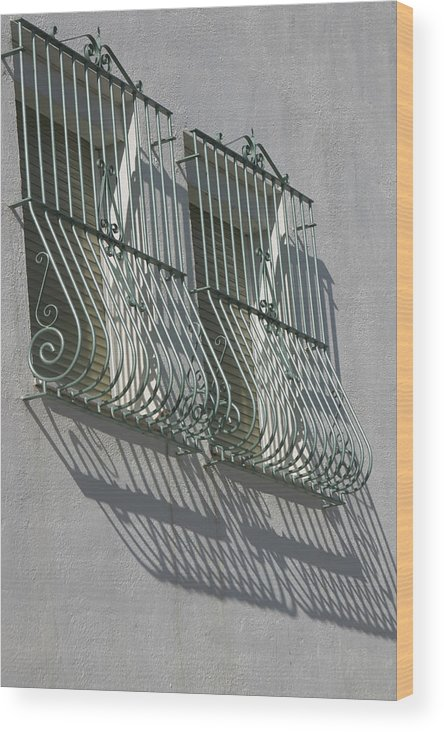 Photographer Wood Print featuring the photograph Caged Shadows by Jez C Self