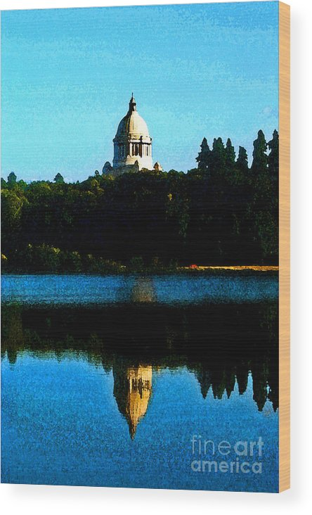 Lake Wood Print featuring the photograph Capital Lake by Larry Keahey