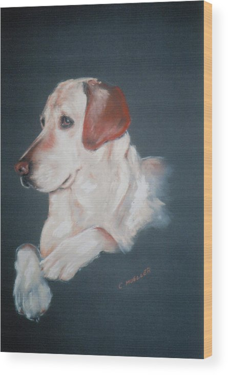 Dog Wood Print featuring the painting Casey by Carol Mueller