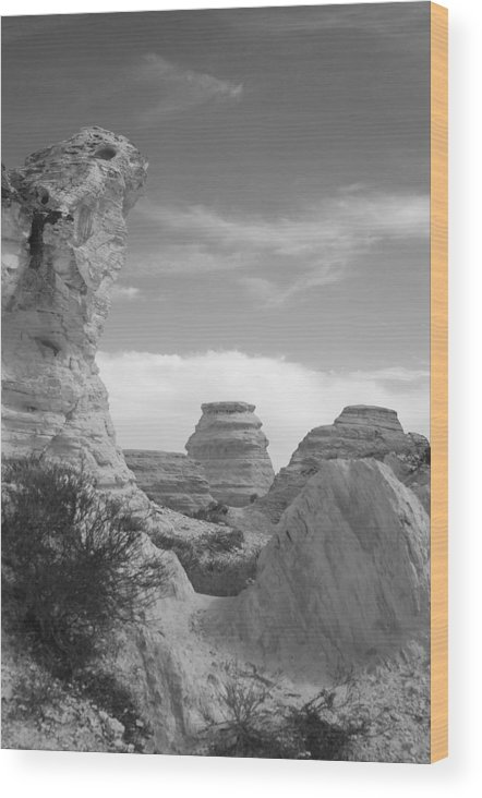 Landscape Wood Print featuring the photograph Castle Rock Rock Formation by David Waldrop