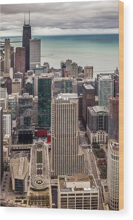 Chicago Wood Print featuring the photograph Chicago Views by Andrew Soundarajan