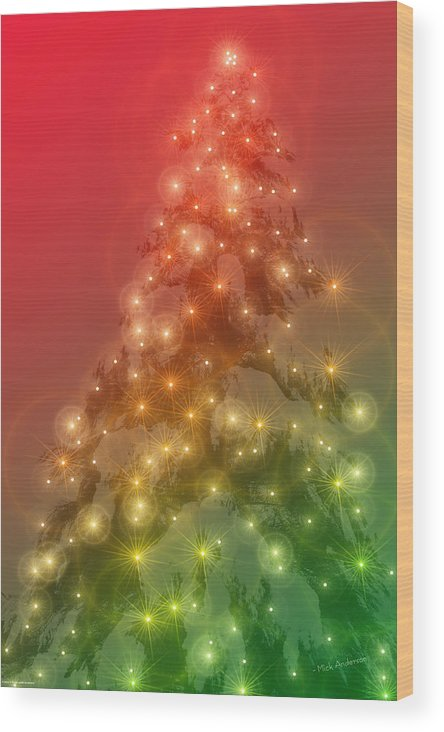 Christmas Wood Print featuring the photograph Christmas Radiance by Mick Anderson