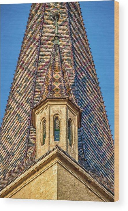 Church Wood Print featuring the photograph Church Spire Details - Romania by Stuart Litoff