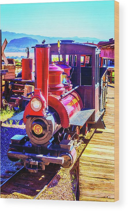 Calico Wood Print featuring the photograph Classic Calico Train by Garry Gay