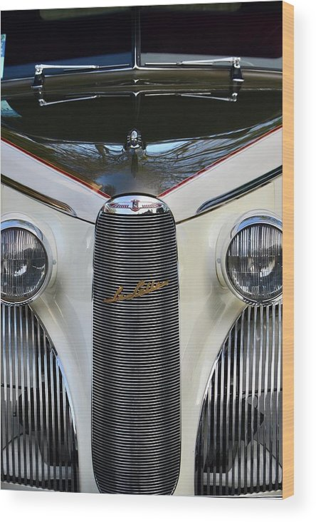 Wood Print featuring the photograph Classic Car Front End by Dean Ferreira