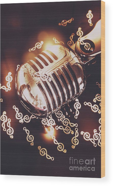 Microphone Wood Print featuring the photograph Classics At The Audio Hall by Jorgo Photography - Wall Art Gallery