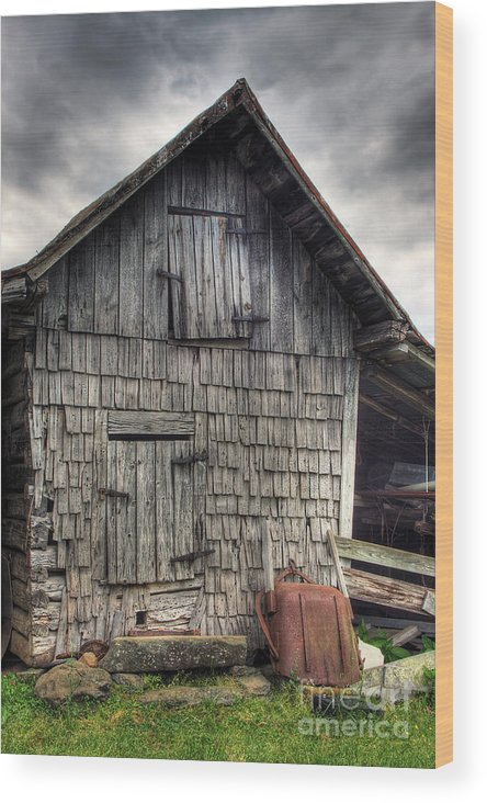 Landscape Wood Print featuring the photograph Closed For Business by Pete Hellmann