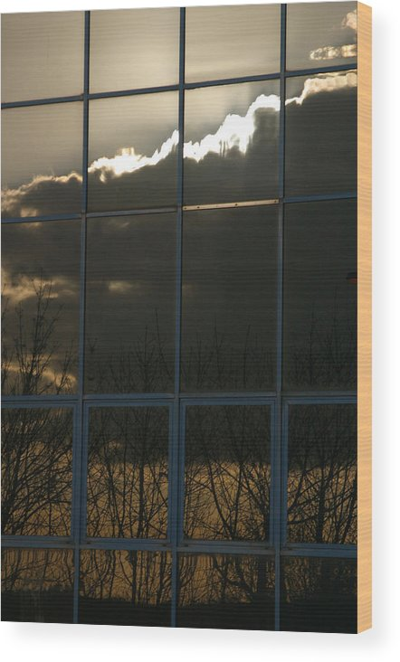 Jez C Self Wood Print featuring the photograph Cloudy Windows by Jez C Self