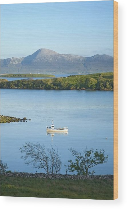 Day Wood Print featuring the photograph Co Mayo, Ireland Fishing Boat In Clew by Gareth McCormack