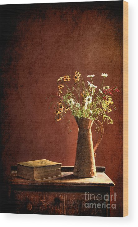 Still Life Wood Print featuring the photograph Color Wild Garden by Sari Sauls